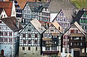 Timber frame houses, Schiltach, Black Forest, Baden-Wuerttemberg, Germany