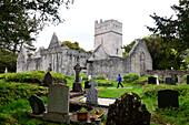 Muckross Abbey, Ruine am Lough Leane bei Killarney, Irland