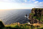 Ireland Irish Western Europe travel destinations Landscape nature Mountain mountains mount mounts Cliffs of Moher Clare county Cliff sea beach