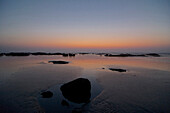 Maungmagan beach after sunset near Dawei, Tavoy, Taninthari, Tenasserim Division, Myanmar, Burma, Asia