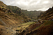 View to a mountain village, Praia, Santiago, Cape Verde