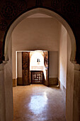 Inside the Ben Youssef Madrassa, an old Islamic school, Marrakech, Morocco