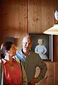 Annette und Matthias Wodenegg, Inhaber des Hotel Gasthof Bad Dreikirchen, Berghotel, der Familie Wodenegg, im Eisacktal, Trechiese 12, 39040 Barbiano, Suedtirol, Italien