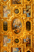 Ceiling fresco in Doge's Palace, Palazzo Ducale, Venice, Italy, Europe