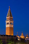 Campanile and Piazza San Marco taken from the waterside, Venice, Italy, Europe