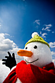 Close-up of a snowman, Kreischberg, Murau, Styria, Austria