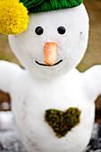 Close-up of a snowman, Styria, Austria
