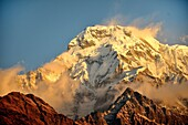 Annapurna South , 7219m, Annapurna group, Nepal.