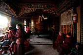 Monks of the temple, Khatmandu, Nepal