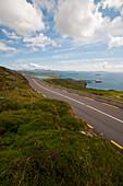 Coastal road along the southern coast of the Ring of Kerry, Ireland