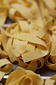 Parpadelle pasta being produced at the world's largest pasta factory near Parma, Italy.