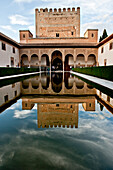 Nasrid Palaces in the Alhambra,  Granada,  Andalucia,  Spain
