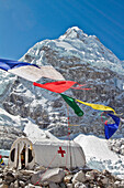 The medical tent at Everest Base camp. The tent is in operation for the whole of the climbing session on Mount Everest.