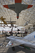 Vintage airplanes inside the Great Gallery at the Museum of Flight. The Museum of Flight is one of the largest air and space museums in the world with a collection of more than 150 historically significant air and spacecraft.  The museum's exhibits cover