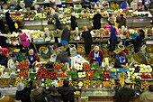 IRKUTSK, SIBERIA, RUSSIA - MARCH 6, 2007: The produce section of an indoor Russian market in Irkutsk, Siberia, Russia on March 6, 2007. Photo by Olivier Renck/Aurora