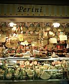 A deli in Mercato Centrale, Florence, Italy.
