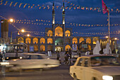 Yazd, Iran - February, 2008: Busy Behesti Square at the heart of the ancient and vibrant desert city of Yazd.