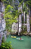 Through the Duck Hole Canyon, Kössen, Tirol, Austria, Tyrolio Ache River, Border between Austria and Germany