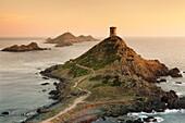 Tour de la Parata and the islands of Iles Sanguinaires, Corsica, France, Mediterranean, Europe