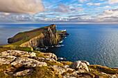 Neist Point and Lighthouse, Isle of Skye, Inner Hebrides, Highland and Islands, Scotland, United Kingdom, Europe