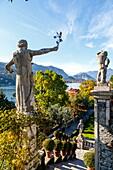 The Borromeo's Palace and gardens on Isola Bella, Borromean Islands, Lake Maggiore, Piedmont, Italy, Europe