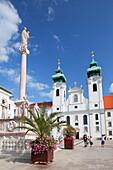 Church of St. Ignatius Loyola in Szechenyi Square, Gyor, Western Transdanubia, Hungary, Europe