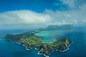 Aerial of Lord Howe Island, UNESCO World Heritage Site, Australia, Tasman Sea, Pacific