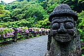 Basalt statue in Seogwipo, island of Jejudo, UNESCO World Heritage Site, South Korea, Asia