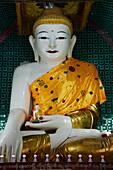 Buddha statue, Mandalay Hill, Mandalay, Myanmar (Burma), Asia