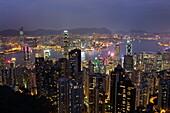 View over Hong Kong from The Peak, Hong Kong, China, Asia