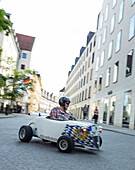 Soapbox cars, Moto-Seifenkiste, Munich, Upper Bavaria, Bavaria, Germany