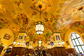 Ceiling painting in Hofbraeuhaus, Munich, Upper Bavaria, Bavaria, Germany