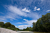 River Isar am Flaucher, Munich, Upper Bavaria, Bavaria, Germany