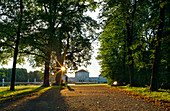 Nymphenburg castle with castle grounds, Munich, Upper Bavaria, Bavaria, Germany