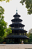 Chinese Tower in the English Garden, Munich, Upper Bavaria, Bavaria, Germany