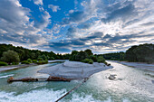 River Isar at Flaucher, Munich, Upper Bavaria, Bavaria, Germany