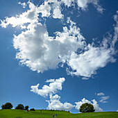 Clouds over Olympic Hill, Munich, Upper Bavaria, Bavaria, Germany
