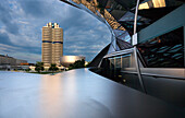 BMW tower in the evening, Munich, Upper Bavaria, Bavaria, Germany