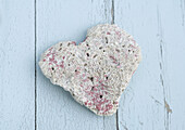 Heart shaped piece of coral