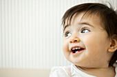 Baby girl smiling, portrait