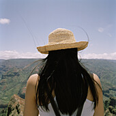 A woman looking at view