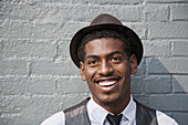 A cheerful young black man