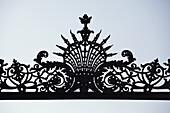 Intricate wrought iron design, detail