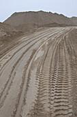A dirt road at a quarry
