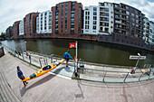 Kajaktour auf Alster und Elbe durch Hamburg, Deutschland
