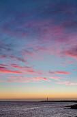 Sundown at lighthouse Faro de Pechiguera, Playa Blanca, Lanzarote, Canary Islands, Spain