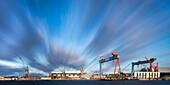 Docks, Howaldtswerke-Deutsche Werft, Kiel Fjord, Baltic Sea, Kiel, Schleswig-Holstein, Germany