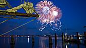Kieler Woche, Fireworks, Kiellinie, Kiel Fjord, Kiel, Schleswig-Holstein, Germany