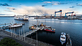 Howaldtswerke-Deutsche Werft, Stenaline (Goteborg), Kiel Fjord, Baltic Sea, Kiel, Schleswig-Holstein, Germany