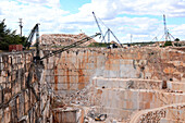 Marble quarrying near Estremoz, Alentejo, Portugal